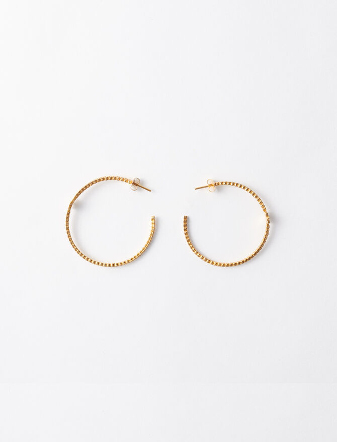 Gold-plated large earrings -  - MAJE