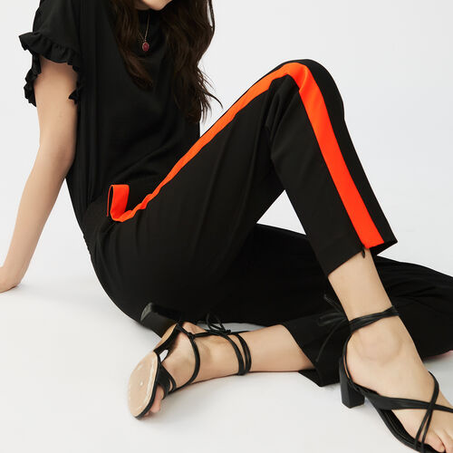 Trousers with band : Pants & Jeans color Black 210