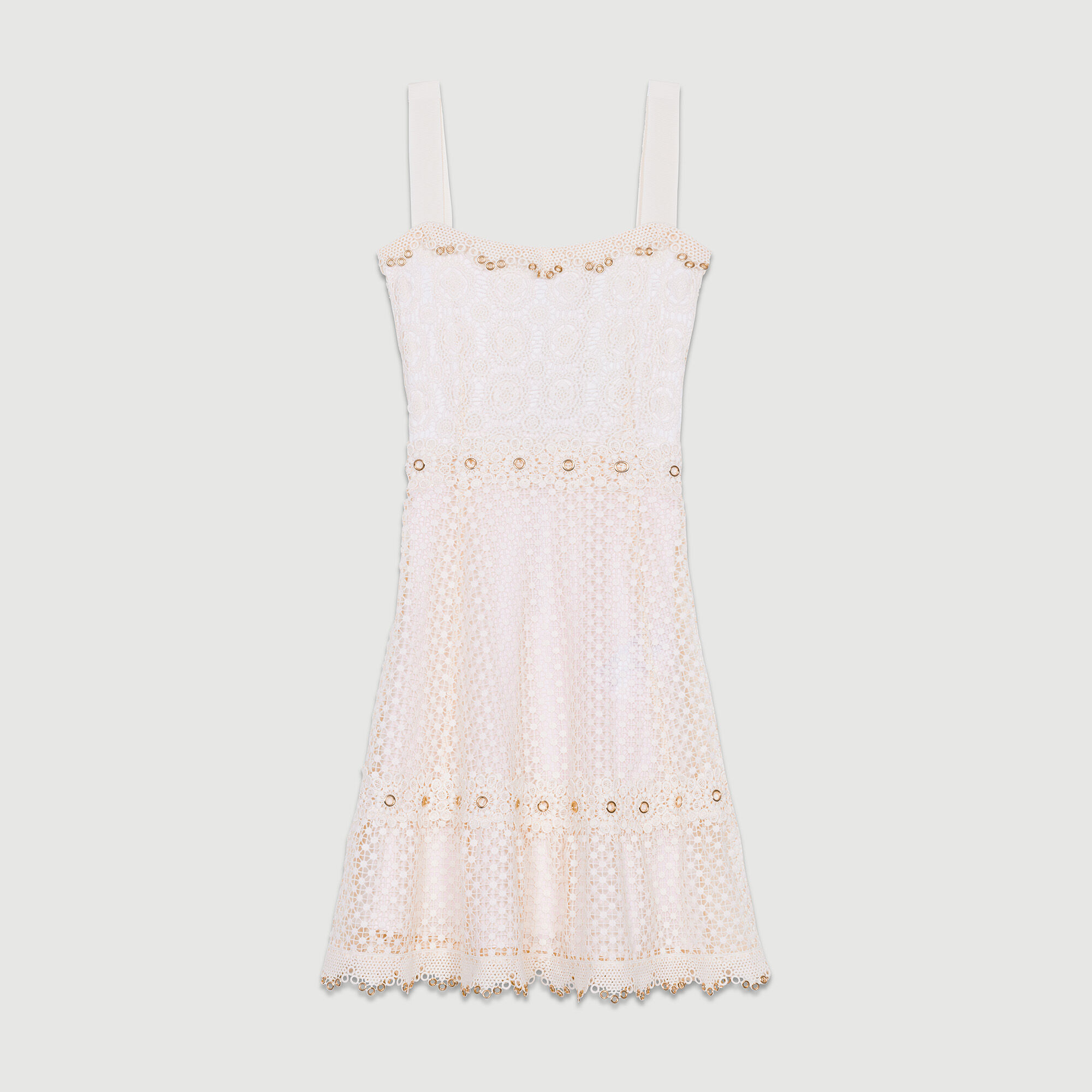 Lace dress with straps,