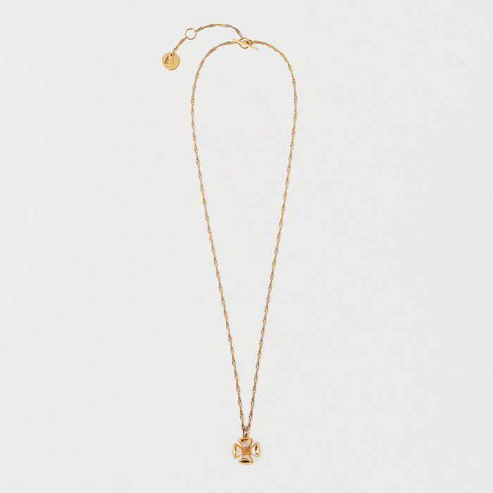 Necklace with small flower : Jewelry color GOLD