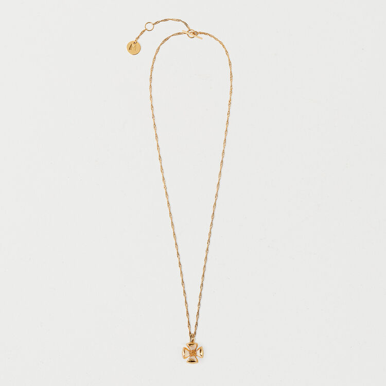 Necklace with small flower : Shoes & Accessories color GOLD