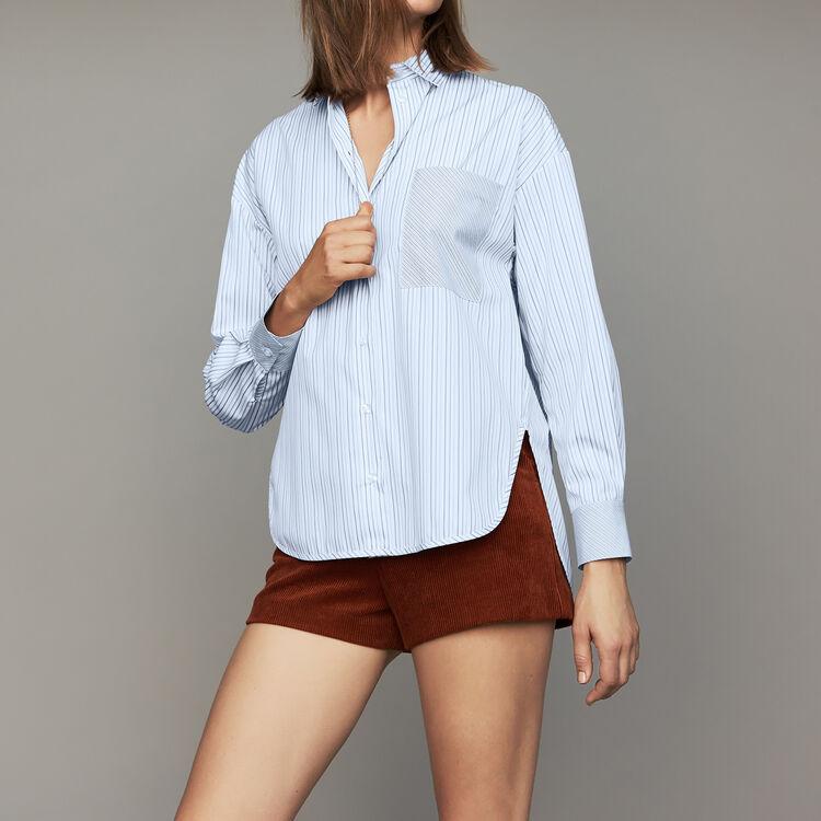Cotton striped shirt : Tops & Shirts color Stripe