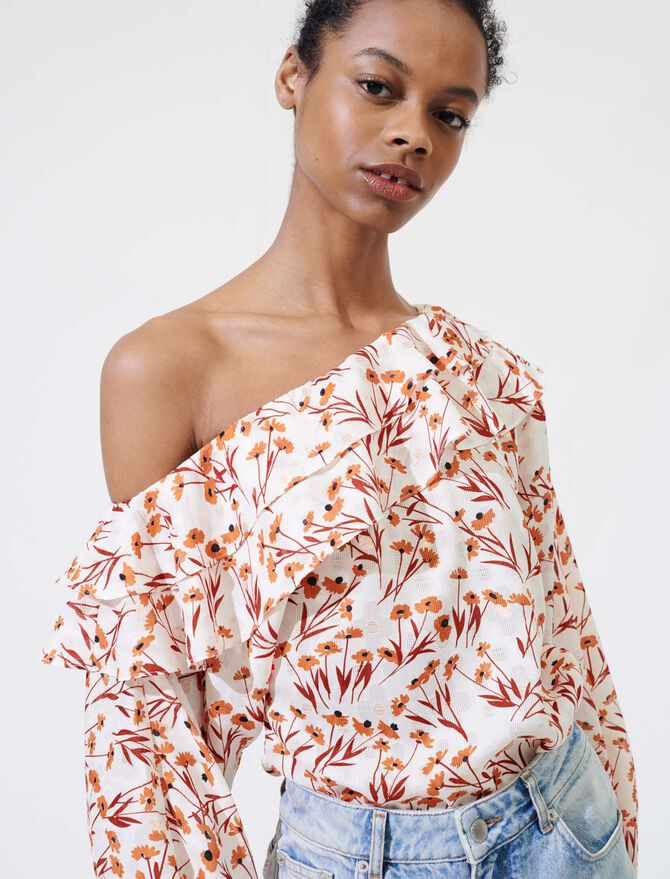 Floral top with drop shoulders - Tops & T-Shirts - MAJE