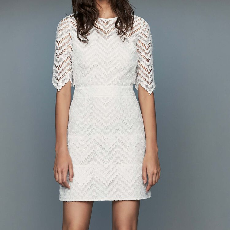 Straight lace dress : Dresses color White