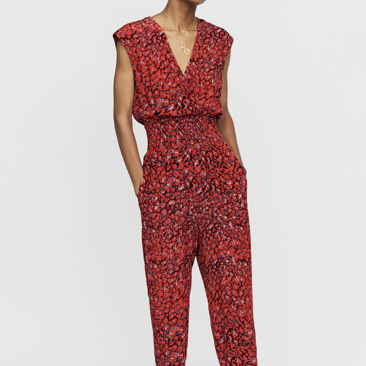 Sleeveless jumpsuit : Jumpsuits & Rompers color PRINTED