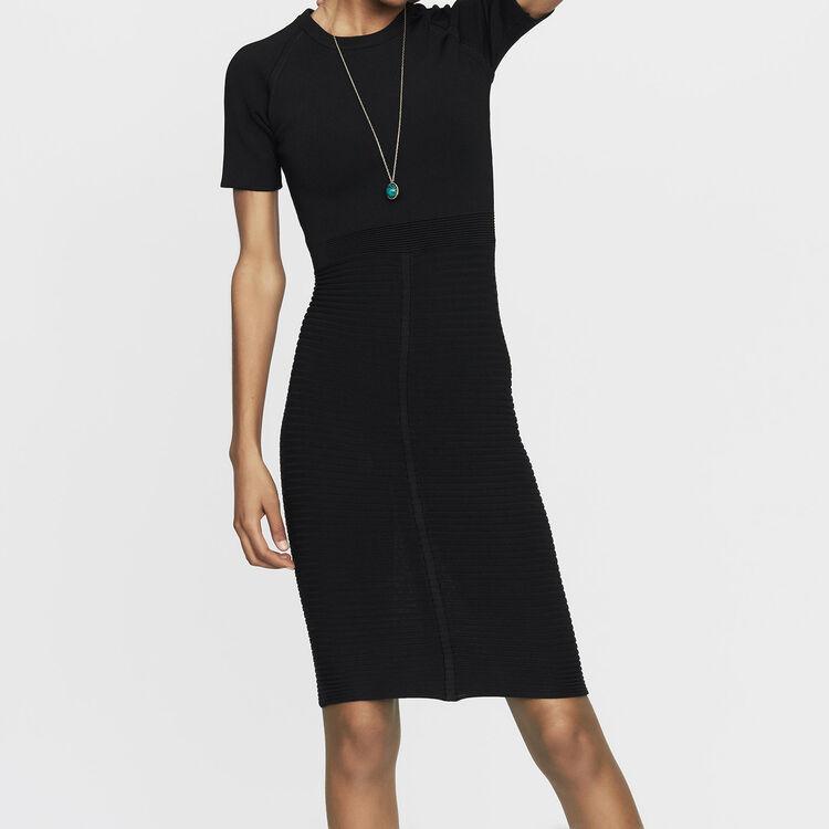 Relationa Stretch Knit Dress Dresses Maje
