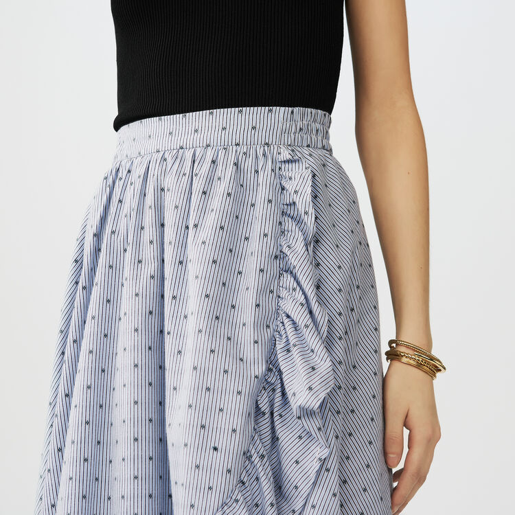 Long striped skirt with ruffles : Skirts & Shorts color Stripe