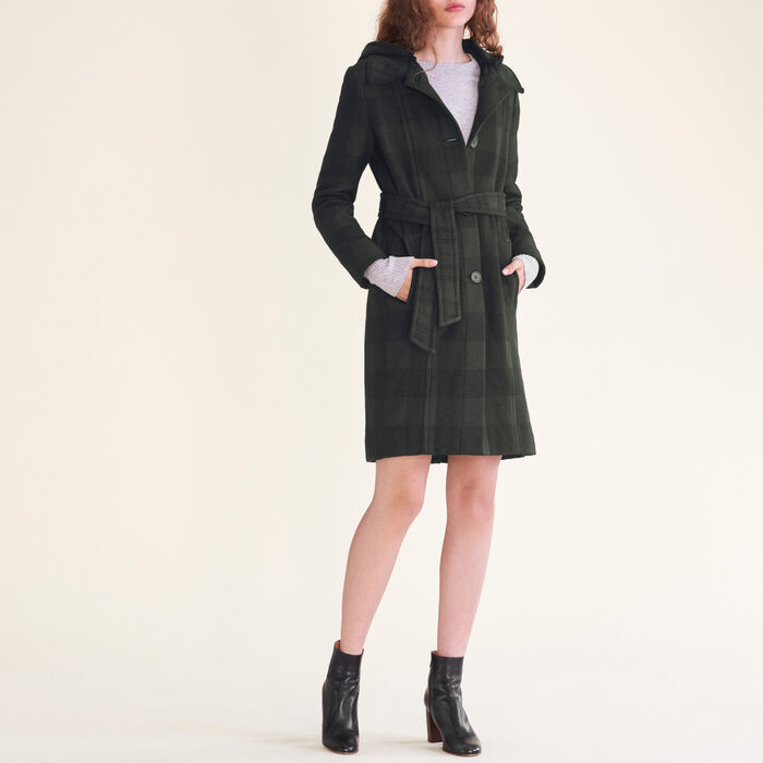 Long checked coat : null color