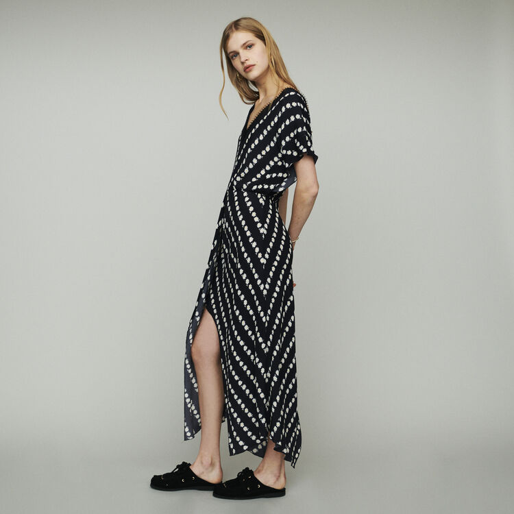 6485d295b0 RITTA Long dress with daisy print - Dresses - Maje.com
