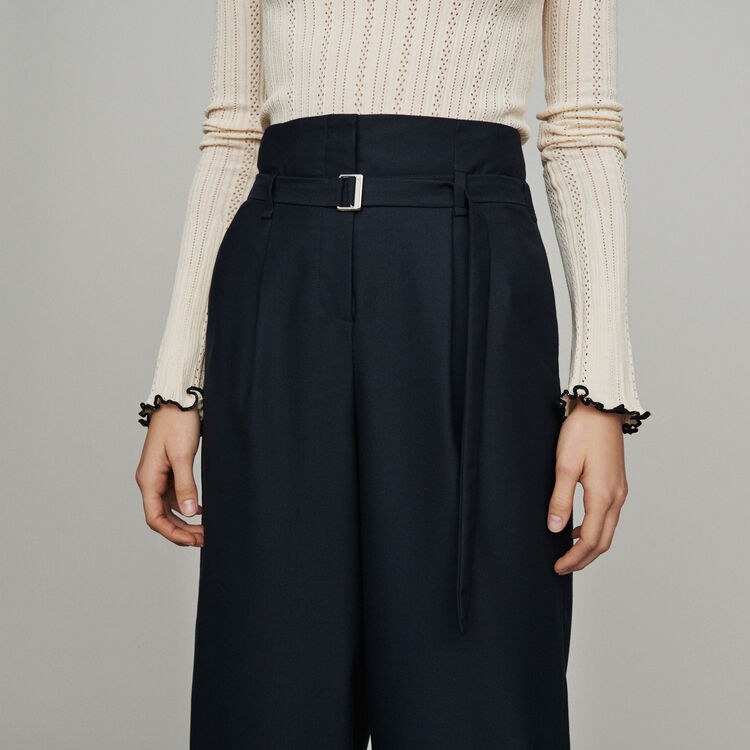 Wide-leg pants with tight ankles : New in: Spring Collection color Navy