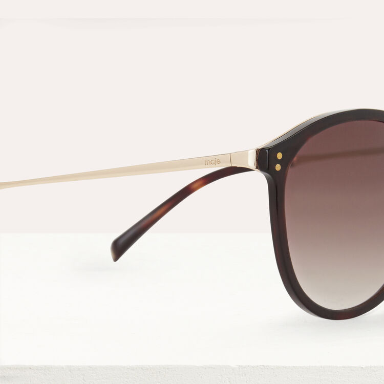 Sunglasses in acetate and metal : The Essentials color Ecaille