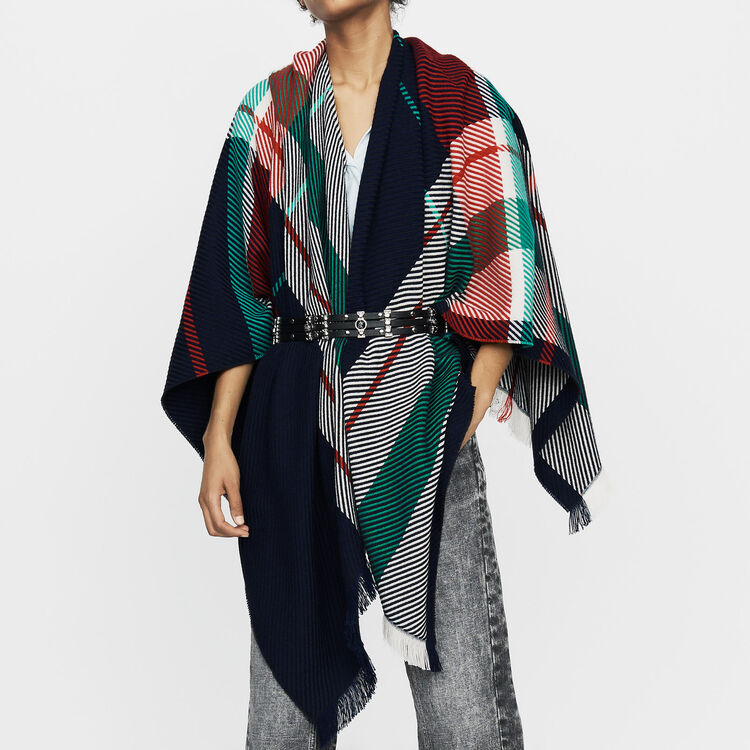 Jacquard poncho : Scarves & Ponchos color Multico