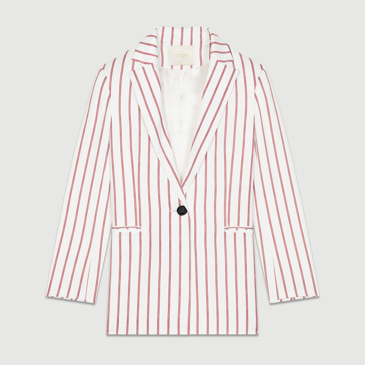Striped suit jacket : Coats & Jackets color Stripe