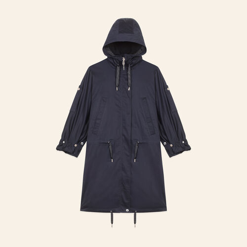 Long parka : Coats & Jackets color Navy