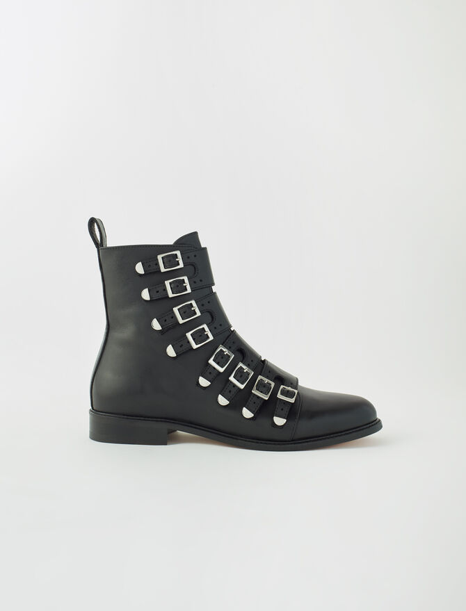 Multi-strap flat boots - Boots - MAJE