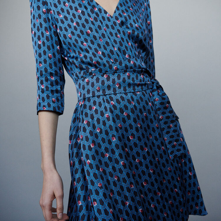 Scarf dress with studs : Dresses color Printed