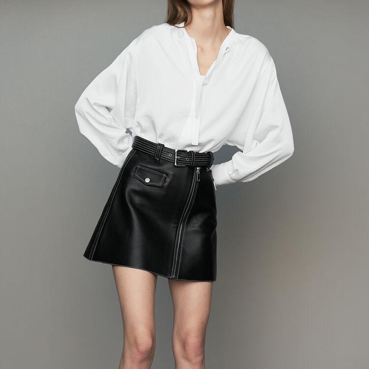Crepe blouse : Tops & Shirts color Black 210