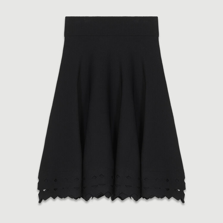 Openwork knit skirt : Pre-collection color Black 210