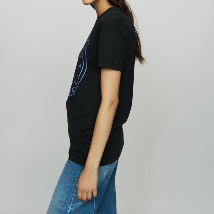 Cotton printed T-shirt : Tops & T-Shirts color Black 210