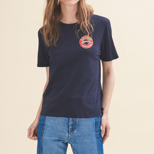 Embroidered T-shirt Tuesday - Tops & T-Shirts - MAJE