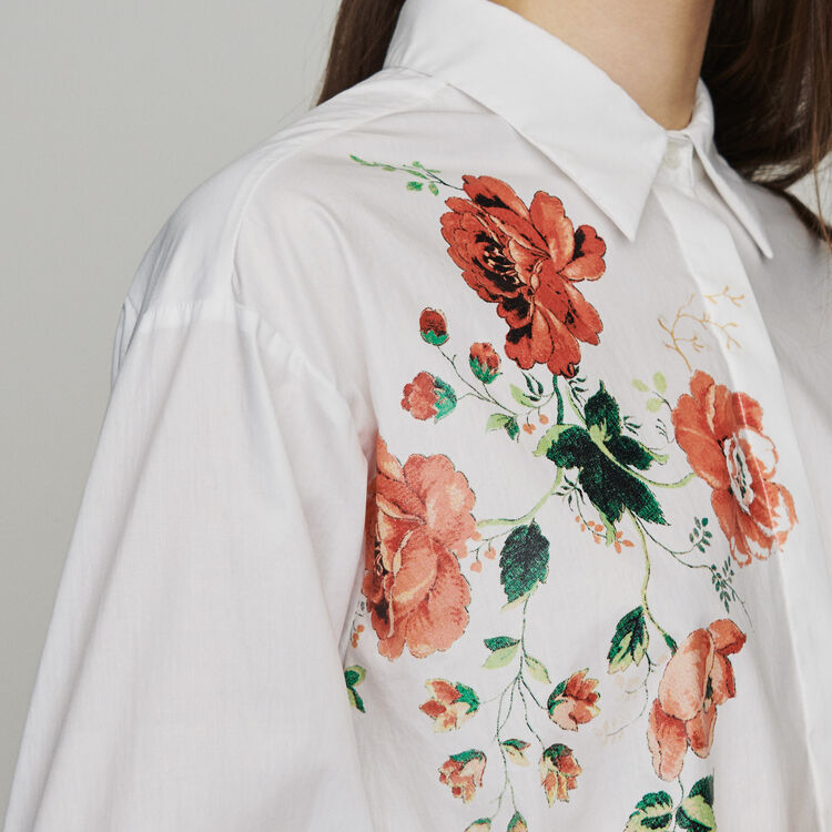 Floral print shirt : New in: Spring Collection color WHITE