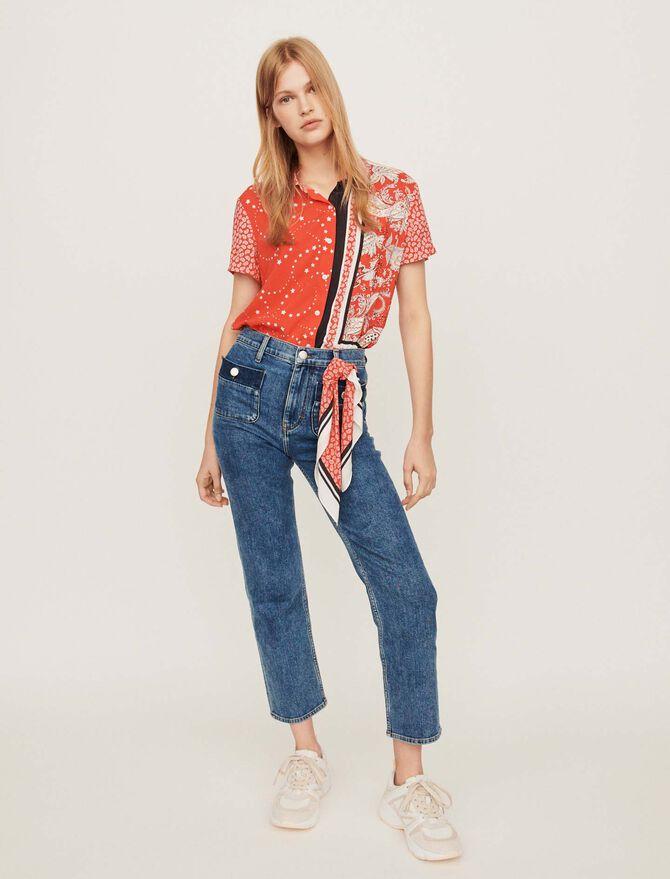 7/8 faded jeans - Pants & Jeans - MAJE