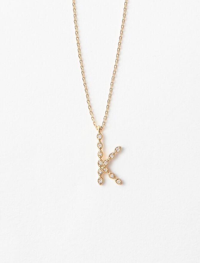 Rhinestone K necklace -  - MAJE