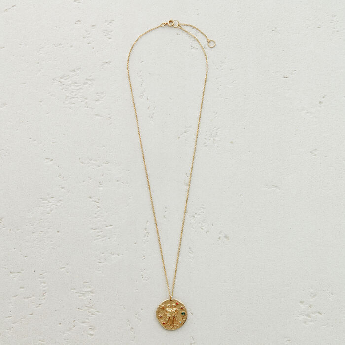 Gemini zodiac sign necklace : Jewelry color GOLD