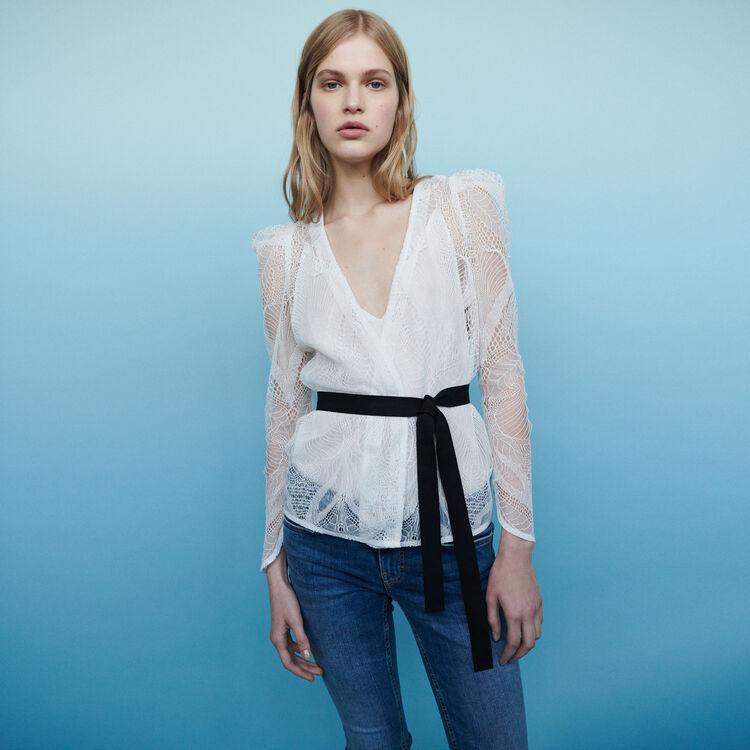 Lace wrap top : Tops & T-Shirts color Ecru