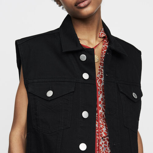 Denim vest : New Collection color Black 210