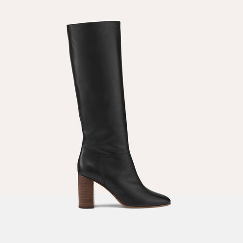 Smooth leather boots : Shoes & Accessories color Black 210