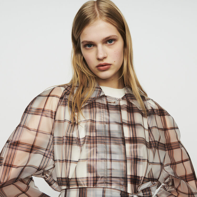 Transparent checkered coat : Coats & Jackets color CARREAUX