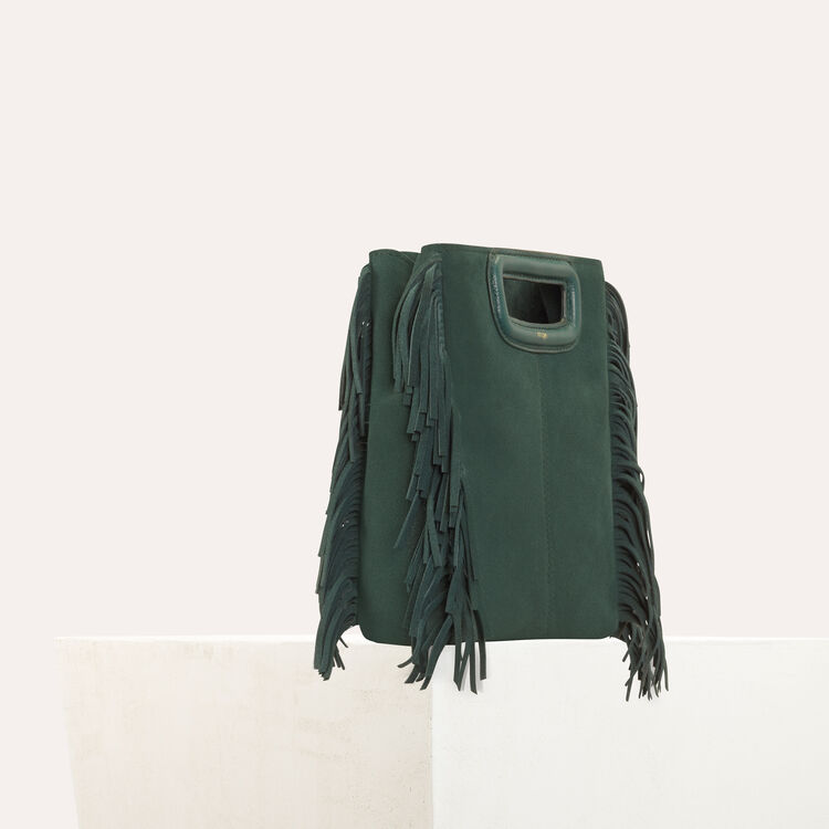 M bag in suede : Bags color Green