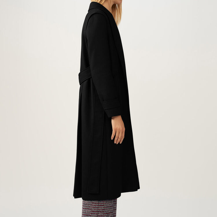 Trench with removable belt : Coats & Jackets color Black 210