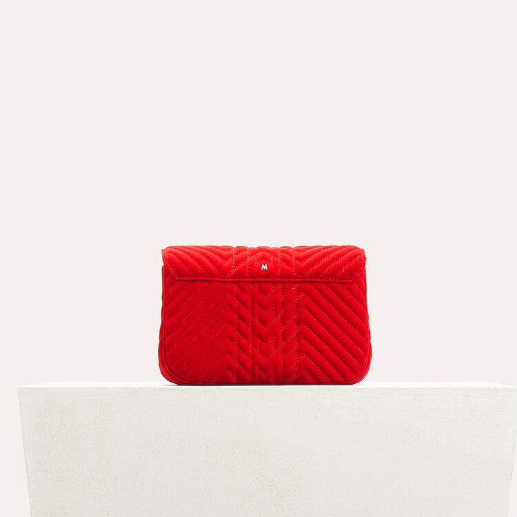 Quilted velvet evening bag : All bags color Red