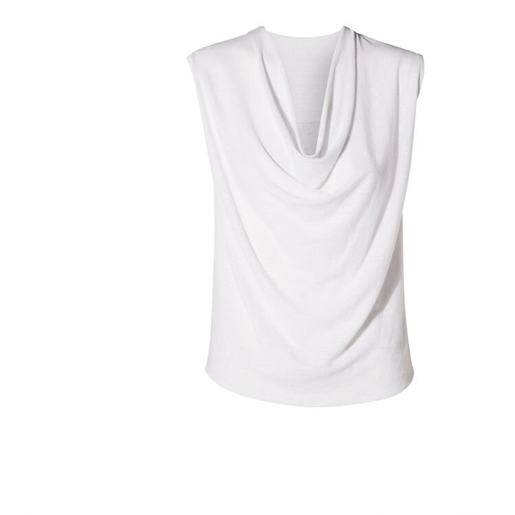 sleeveless linen T-shirt : Copy of Sale color