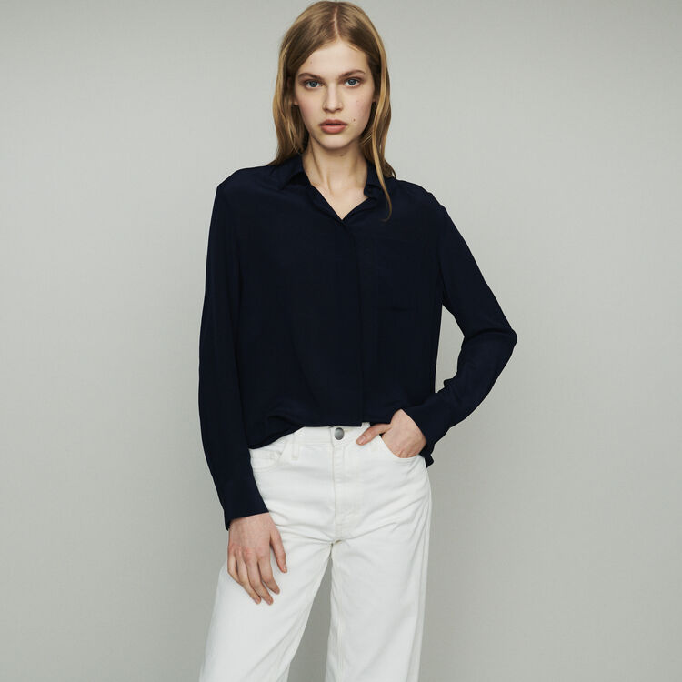 e43afc4c0d989 CELA Silk shirt - Tops   T-Shirts - Maje.com