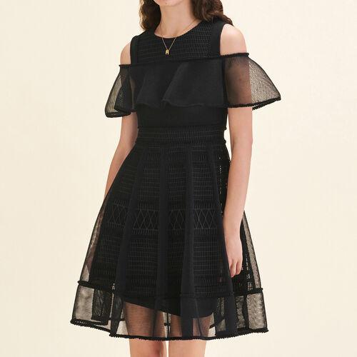 Mesh sleeveless dress : Dresses color Black 210