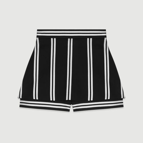 Layered striped shorts : Skirts & Shorts color Stripe