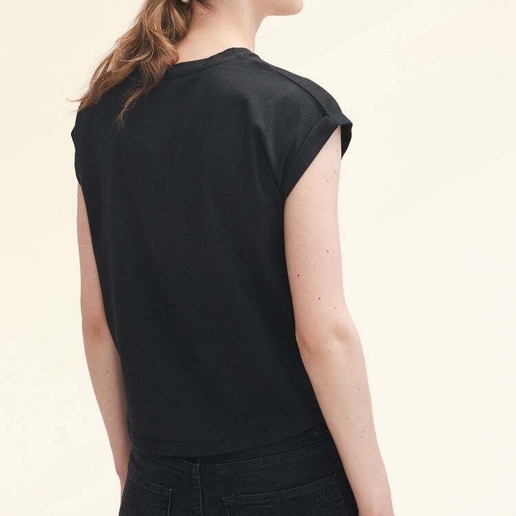 Cotton T-shirt : Tops & Shirts color Black 210