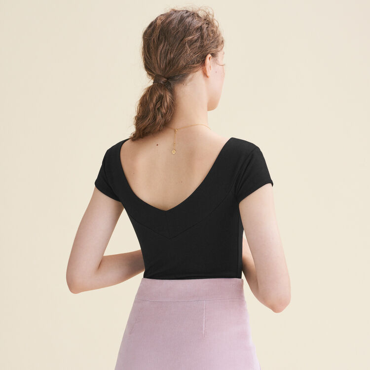 Short-sleeved bodysuit : New Collection color Black 210