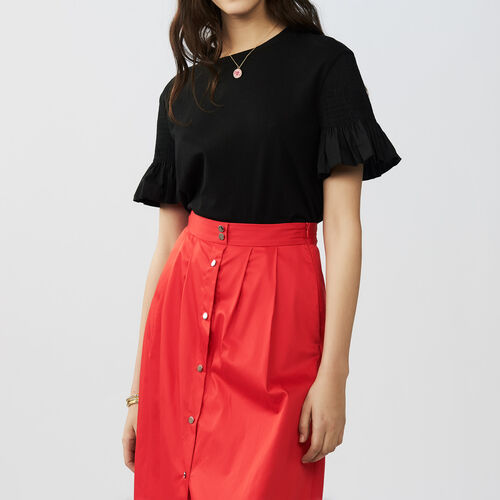 T-shirt with sleeves : Pre-collection color Black 210
