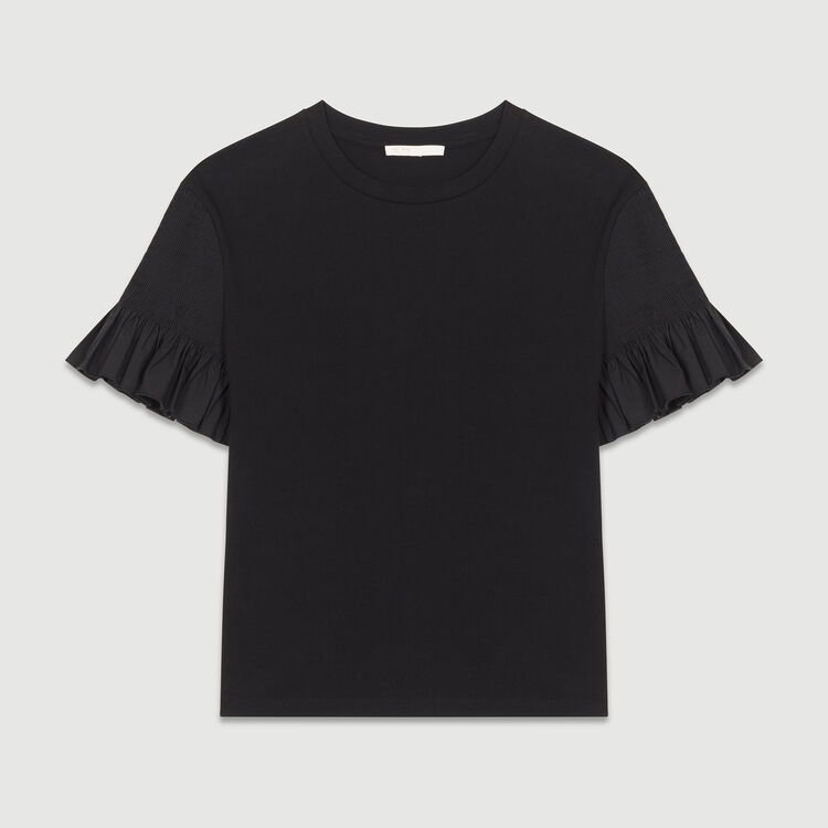 T-shirt with sleeves : Tops & T-Shirts color Black 210