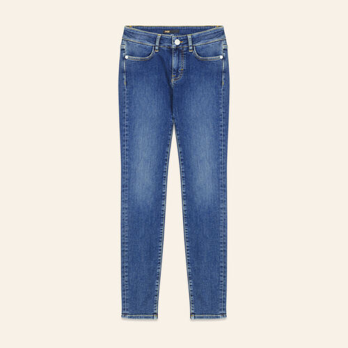 Faded slim jeans : Pants & Jeans color Blue