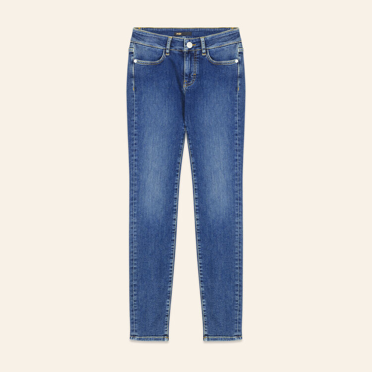 Faded slim jeans : null color