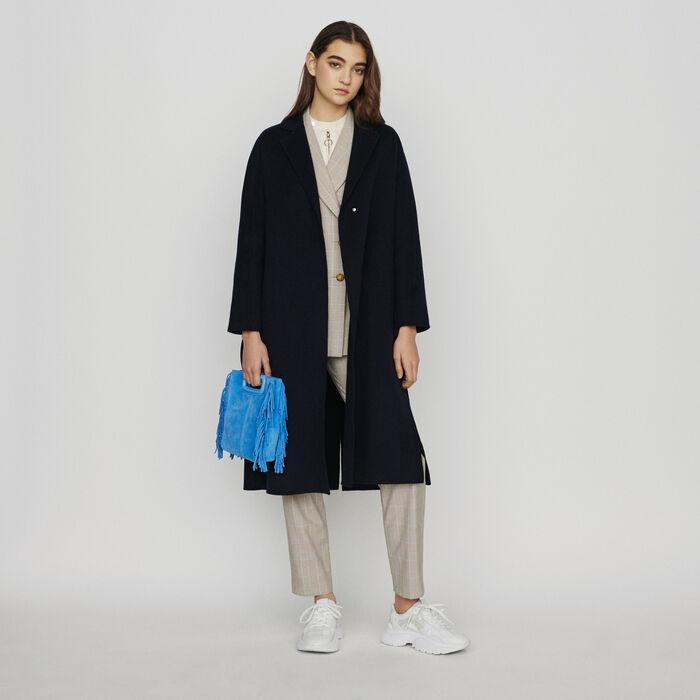 8d46c720176a GALIB Double-face wool coat with belt - Coats & Jackets - Maje.com