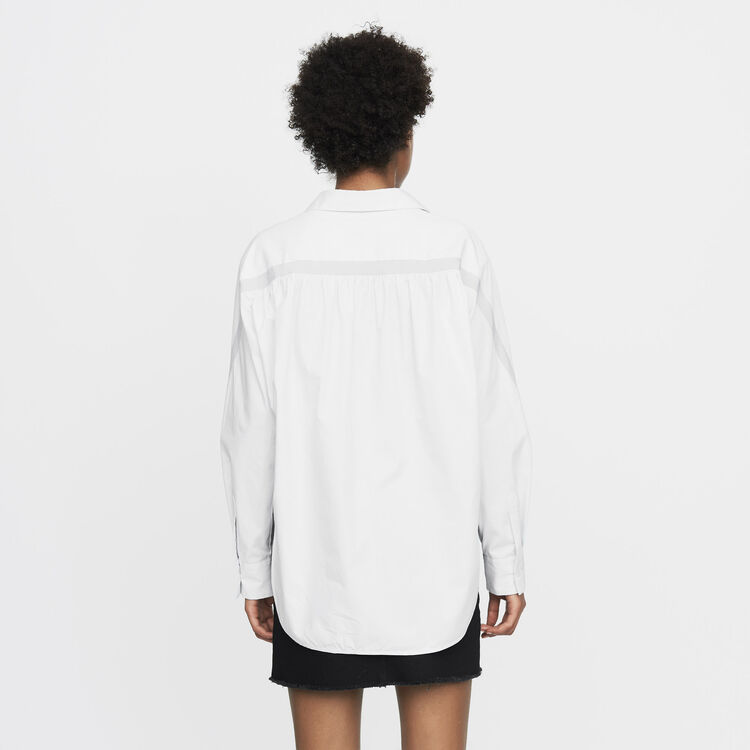 Oversized shirt with grosgrain : Tops & T-Shirts color Blue Sky