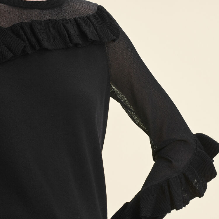 Fine jumper with frills : null color