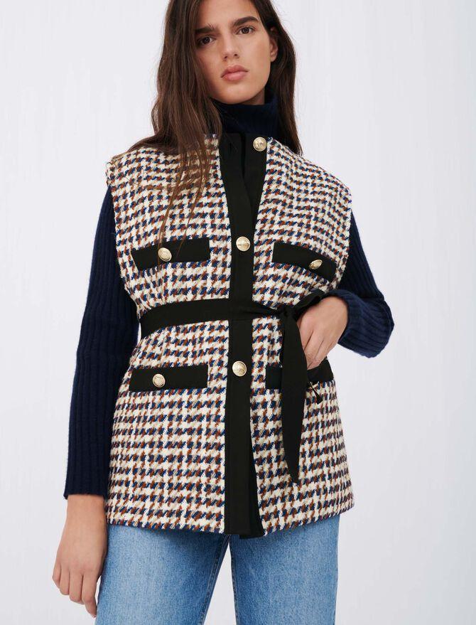 Tweed-style cardigan-inspired jacket - Coats & Jackets - MAJE