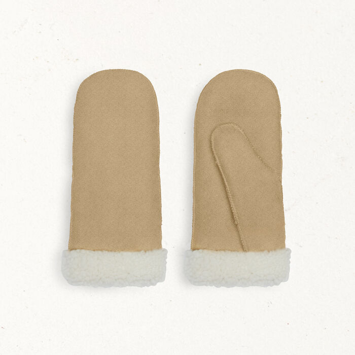Sheepskin mittens : null color
